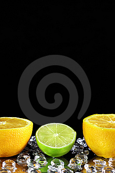 Two Orange And Lime Royalty Free Stock Photos - Image: 17201668