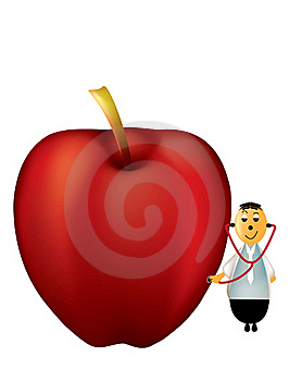 An Apple A Day Keeps The Doctor Away Stock Images - Image: 17202214