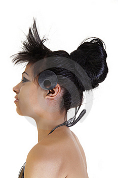 Female Profile With A Hair Fashion Stock Photos - Image: 17204263