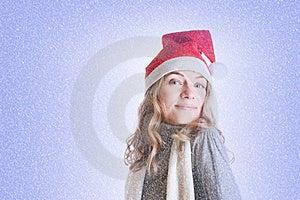 Woman In Santa Hat Stock Photos - Image: 17204303