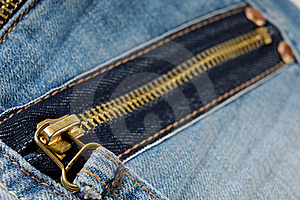 Zipper On Jeans Royalty Free Stock Images - Image: 17204339