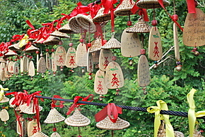 Wish And Prayer Ornaments Royalty Free Stock Image - Image: 17204506