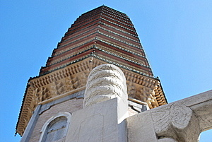 Buddhist Pagoda In Perspective Royalty Free Stock Image - Image: 17204516