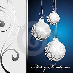 Christmas Background With Balls Stock Photography - Image: 17205562
