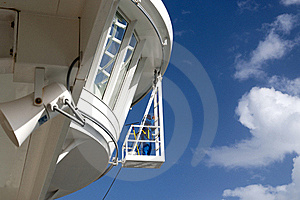 Worker Cleaning Windows On A Ship Royalty Free Stock Photo - Image: 17205935