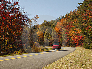 Scenic Fall Drive Royalty Free Stock Image - Image: 17207036