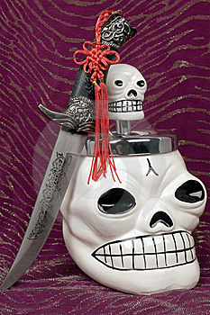 Skull And Dagger Royalty Free Stock Image - Image: 17208666