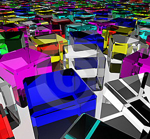 Color Glass Cubes Stock Image - Image: 17211001