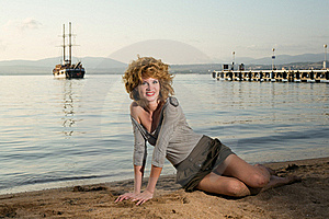 Beauty Woman At Sea Royalty Free Stock Photography - Image: 17211227