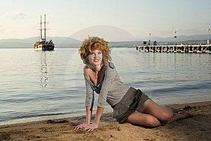 Beauty Woman At Sea Royalty Free Stock Photography - Image: 17211227