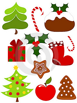 Christmas Icons Royalty Free Stock Photos - Image: 17214238