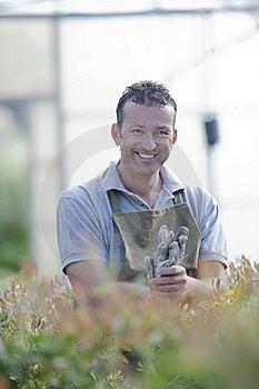 Smiling Gardener Stock Images - Image: 17216134