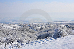 Winter Scene In A Little Village Royalty Free Stock Images - Image: 17216169
