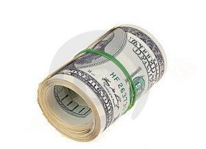 Rolled $100 Dollar Bills Stock Photo - Image: 17216650