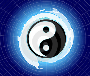 The power of yin & yang Stock Image