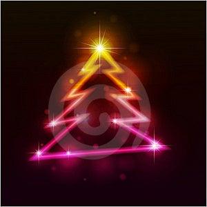 De Bont-boom Van Kerstmis Stock Afbeelding - Afbeelding: 17217031