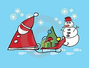 Santa Claus And Snow Man Stock Image - Image: 17218301