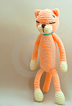 Knitted Cat Toy Stock Photo - Image: 17219120