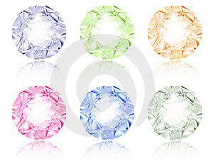 Multicolored Diamond Set Royalty Free Stock Photography - Image: 17219777