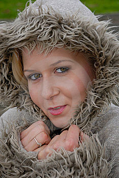 Pretty Female In Warm Coat Royalty Free Stock Photography - Image: 17220637