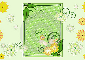 Seamless Leaf-and-flowers Green Pattern Royalty Free Stock Photos - Image: 17221898