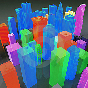 3D Gay City Stock Image - Image: 17223251
