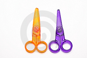 Colourful Plastic Scissors Royalty Free Stock Images - Image: 17223429