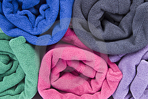 Colorful Polar Fleece Stock Images - Image: 17225314