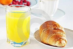 Orange Juice And Croissant Royalty Free Stock Photos - Image: 17229658