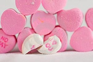 Split Love Hearts Stock Photo - Image: 17233130