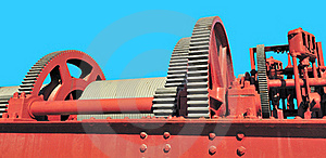 Red Gear Assembly Royalty Free Stock Photos - Image: 17235238