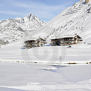 Tignes-le-Lac, Alps Royalty Free Stock Photography - Image: 17236617