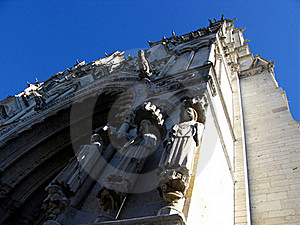 Fragment Of Notre-Dame In Chartres Stock Image - Image: 17236691