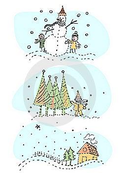 Winter Designs Royalty Free Stock Photo - Image: 17237355