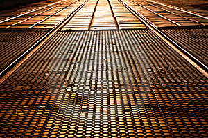 Passage Across The Rails Stock Photography - Image: 17238612