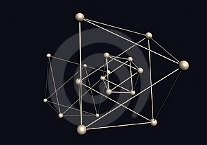 Triangular Structure Of The Molecules Royalty Free Stock Photos - Image: 17242818