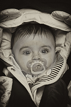 Baby Girl Face Expression Stock Photography - Image: 17249622