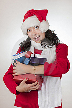 Amazed By Santa Royalty Free Stock Images - Image: 17250079