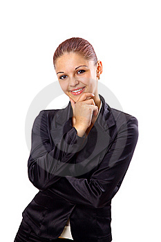 Positive Business Woman Smiling Royalty Free Stock Photos - Image: 17250428