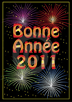 Bonne Année 2011 Greeting Card Stock Photography - Image: 17252862