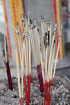 Incense In Vase Royalty Free Stock Images - Image: 17252879