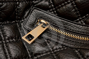 Leather Bag Zipper Stock Photo - Image: 17252890