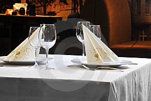 Tables Set For  Meal Stock Images - Image: 17253024