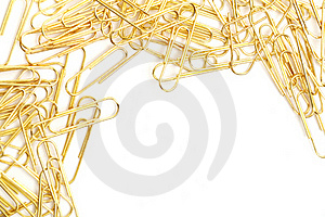 Gleaming Golden Paperclip Royalty Free Stock Photos - Image: 17253178