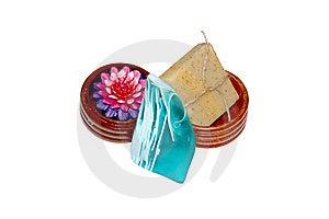 Three Bars Of Natural Soap Stock Images - Image: 17253344