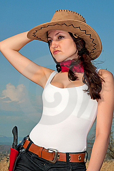 Girl In A Cowboy Hat Royalty Free Stock Photography - Image: 17254737
