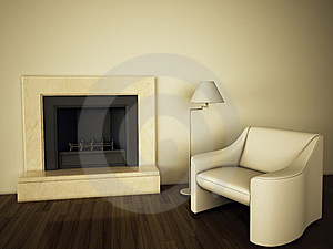 Modern Comfortable Interior Royalty Free Stock Photography - Image: 17256607
