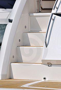 Stair Of Yacht Royalty Free Stock Photo - Image: 17257035