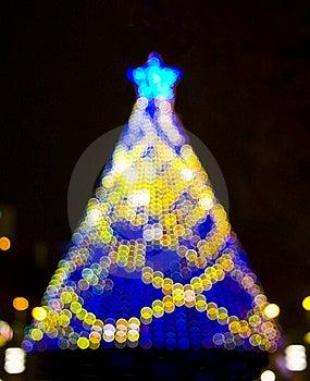 Christmas Tree Bokeh Lights Stock Image - Image: 17262841