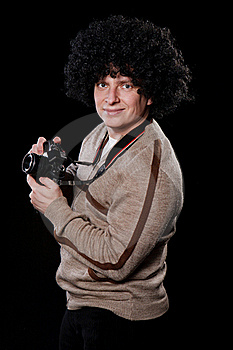 Funny Guy With A Camera Royalty Free Stock Photos - Image: 17264078